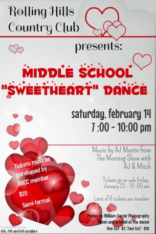 "Middle School ""Sweetheart"" Dance"
