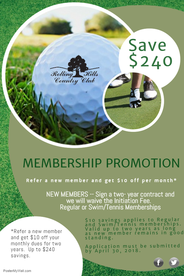 2018 Membership promotion March April
