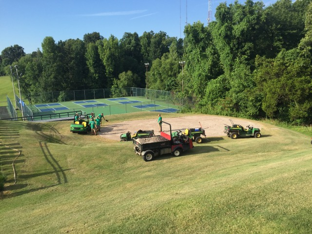 RHCC Crew gets nursery green ready for sprigs