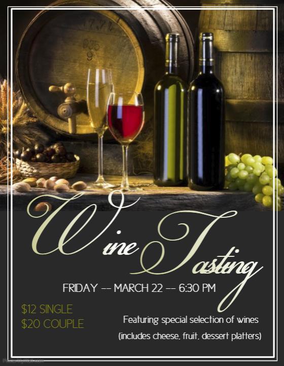 Wine Tasting Flyer 2019